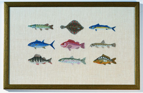 Fische in Petit Point